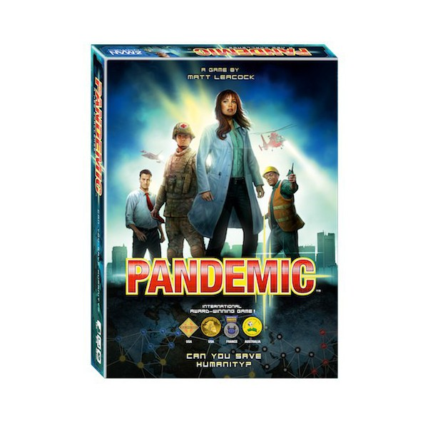 Pandemic board game box.