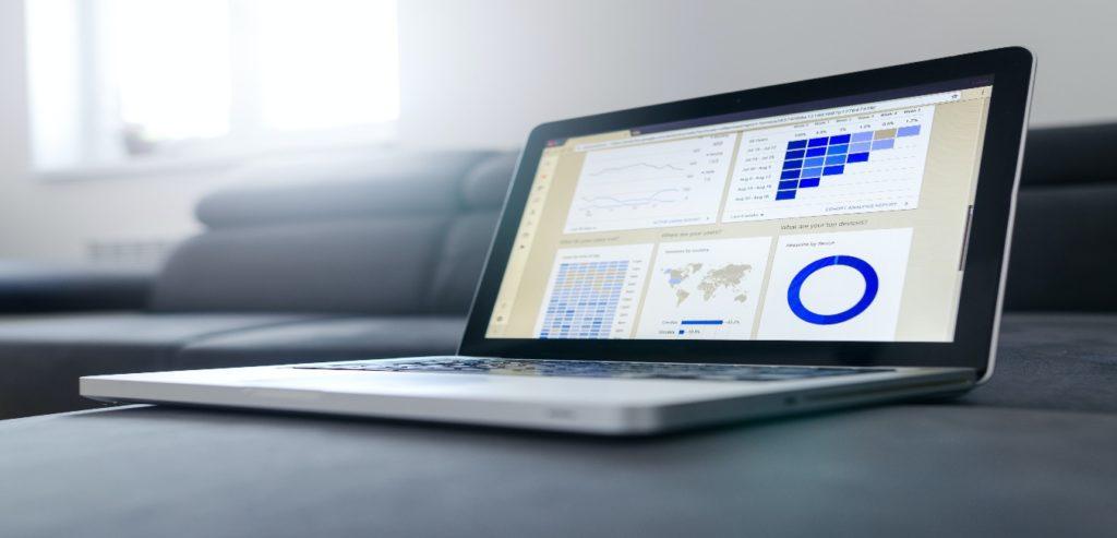 Google analytics on a laptop